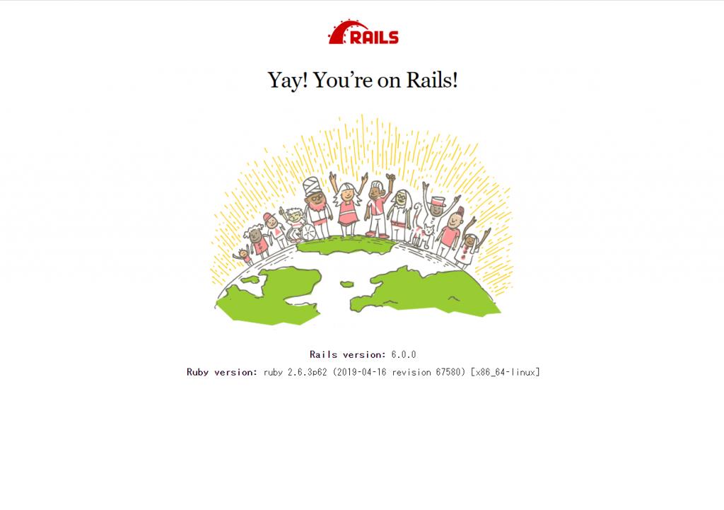 デフォルトのRailsページ